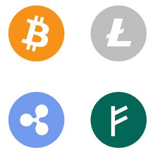 Verschillende cryptocoins op de markt