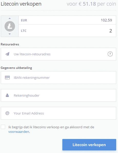 Litecoin verkopen via Bitrush