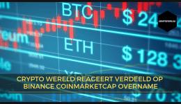Crypto wereld reageert verdeeld op Binance Coinmarketcap overname