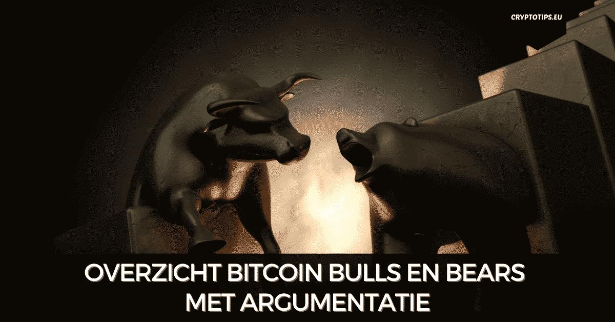 Overzicht Bitcoin bulls en bears met argumentatie